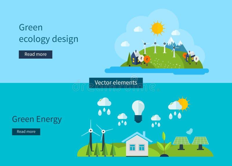 Ejemplo plano del concepto del vector del diseño con los iconos libre illustration