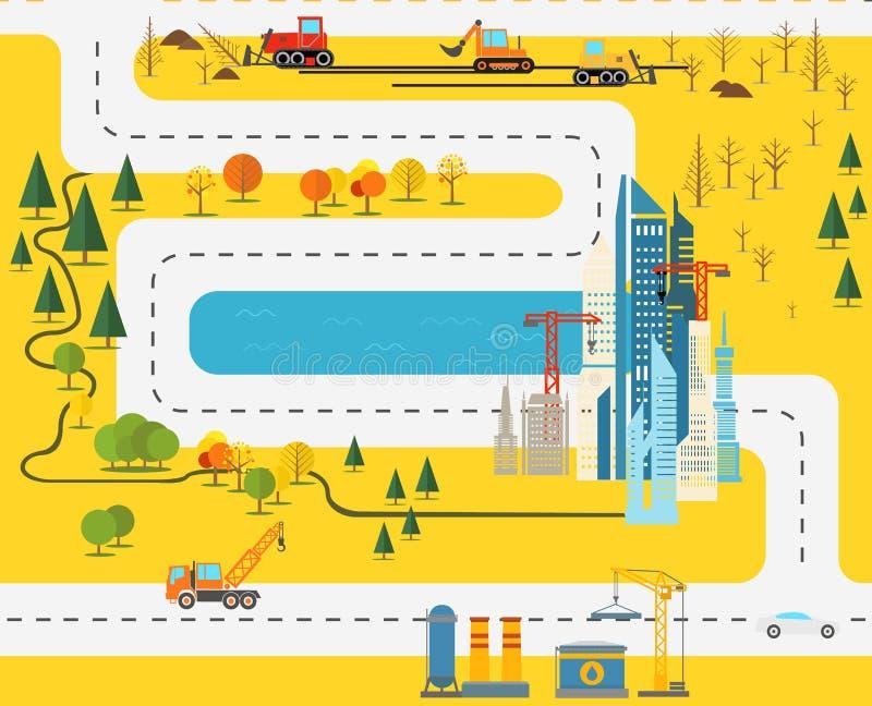 Ejemplo plano del diseño de la ciudad moderna libre illustration