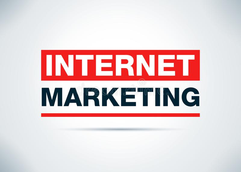 Ejemplo plano del diseño del fondo del extracto del márketing de Internet libre illustration