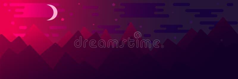 Ejemplo plano del estilo con las montañas libre illustration