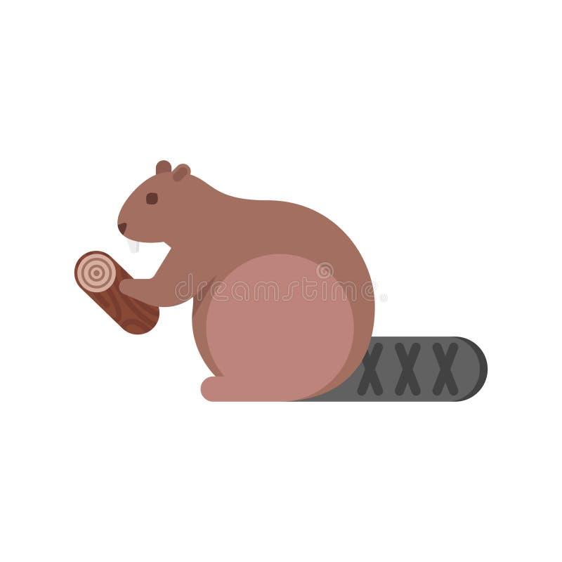 Ejemplo plano del estilo del vector del castor libre illustration