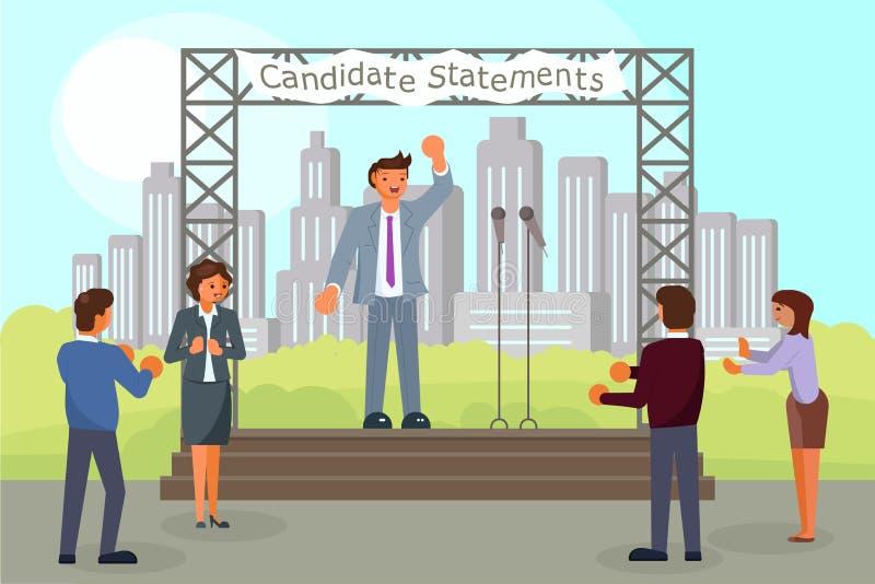 ejemplo plano del estilo del vector del concepto de la campaña de la Pre-elección libre illustration