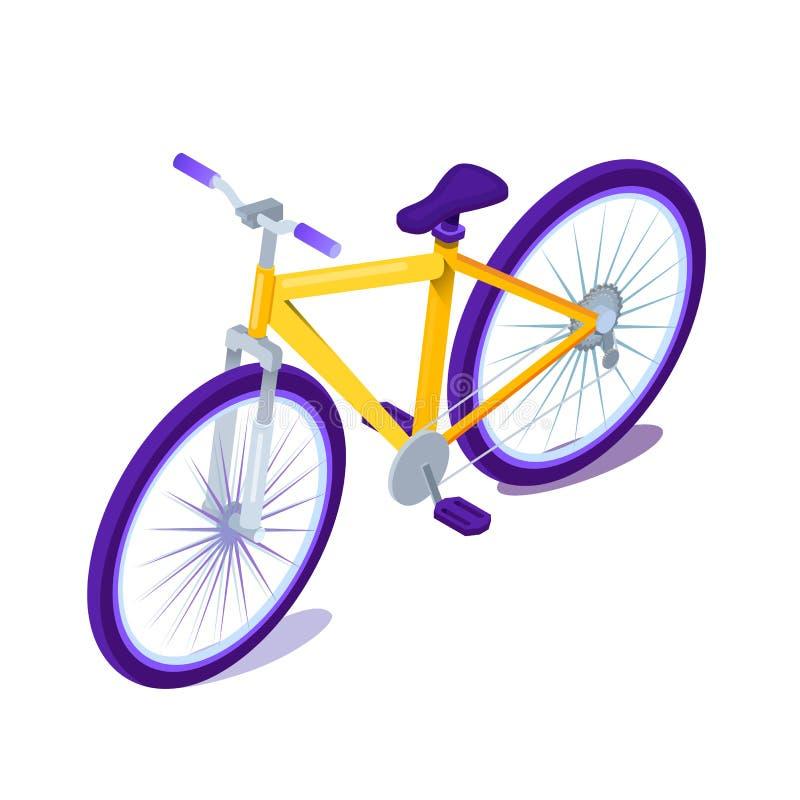 Ejemplo plano del vector del color de la historieta de la bicicleta ilustración del vector