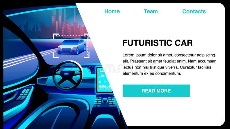 Ejemplo plano del vector de la innovación futurista del coche libre illustration