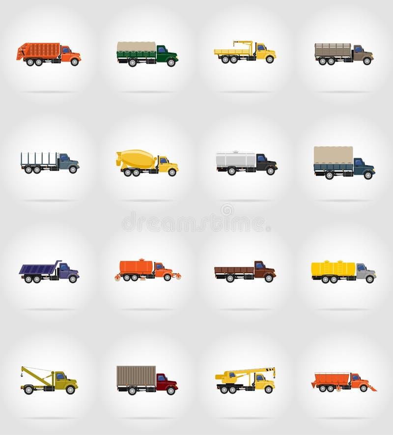 Ejemplo plano del vector de los iconos del camión libre illustration