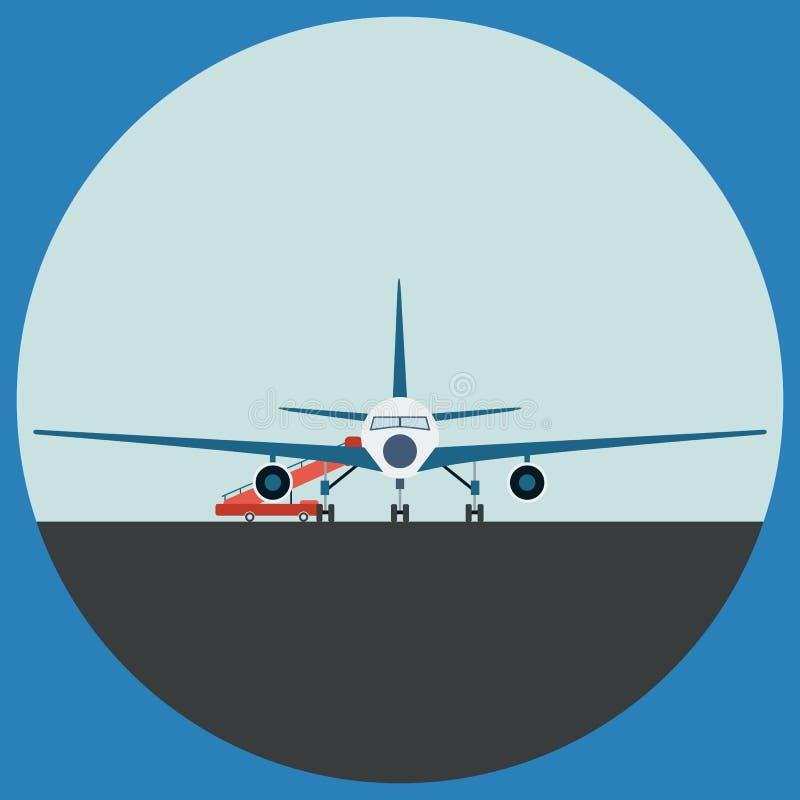 Ejemplo plano del vector del aeroplano libre illustration