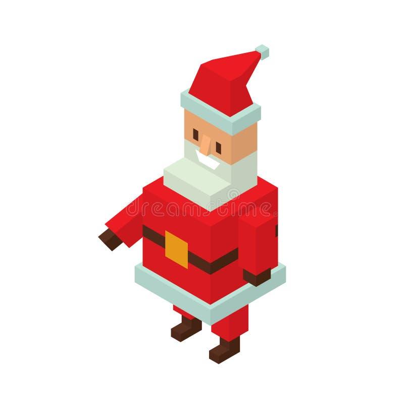 Ejemplo plano del vector del avatar del icono de Santa Claus stock de ilustración