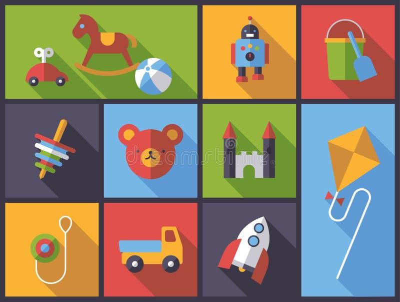 Ejemplo plano del vector del diseño de los juguetes libre illustration