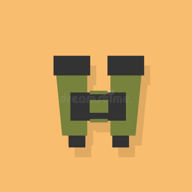 Ejemplo plano del vector del diseño del icono de los prismáticos libre illustration