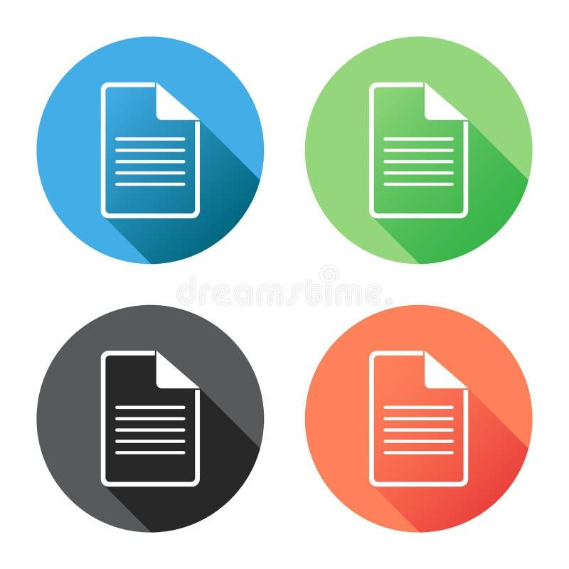 Ejemplo plano del vector del icono de documento stock de ilustración