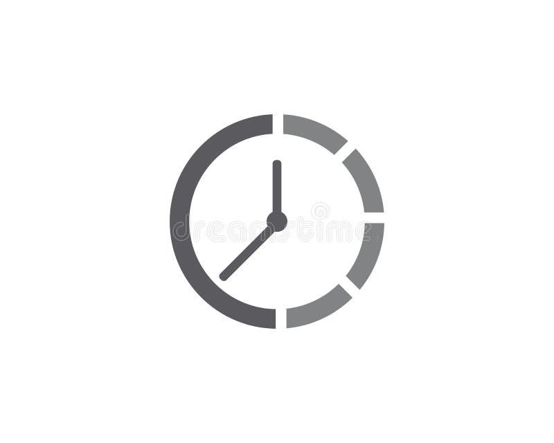 Ejemplo plano del vector del icono del reloj libre illustration