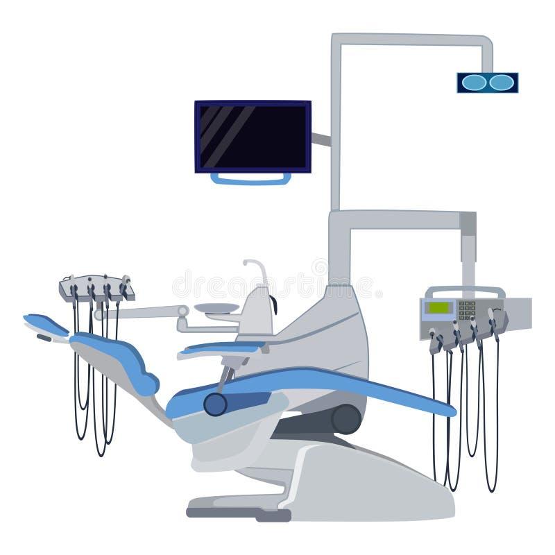 Ejemplo plano del vector médico del equipo dental libre illustration