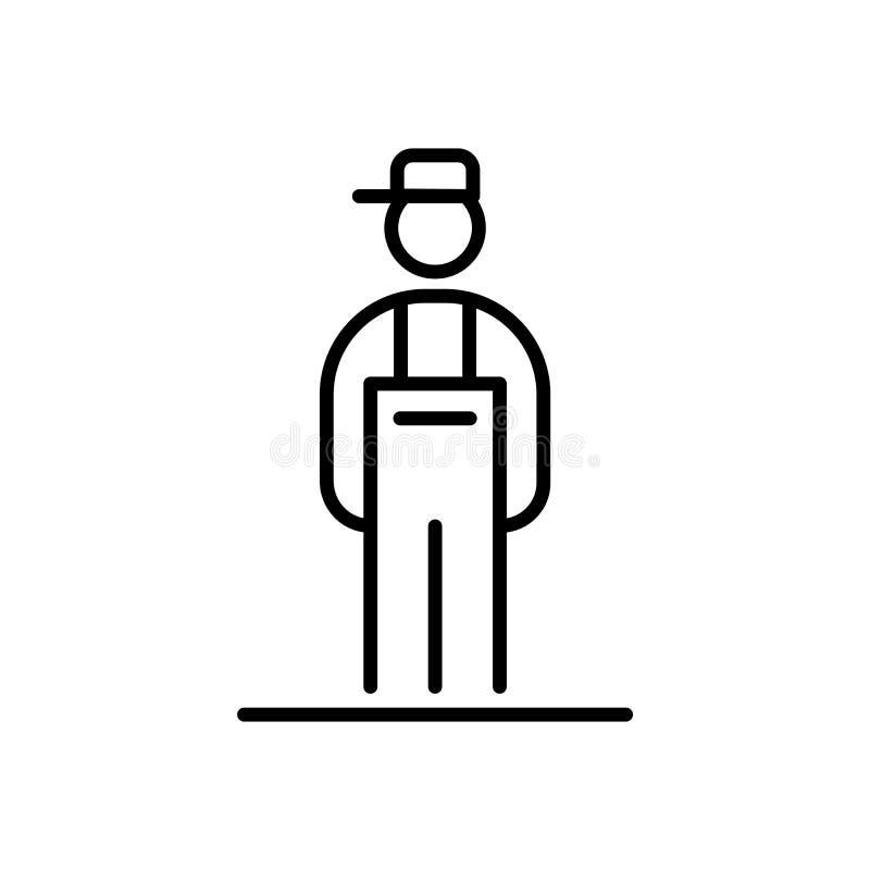 Ejemplo plano simple del estilo del avatar del icono del fontanero libre illustration