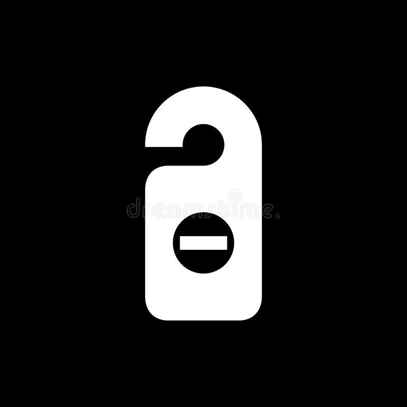 Ejemplo plano simple del vector del estilo del icono de la etiqueta del sitio Etiqueta de la puerta, d ilustración del vector