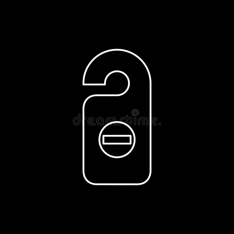 Ejemplo plano simple del vector del estilo del icono de la etiqueta del sitio Etiqueta de la puerta, icono de la suspensión de pu stock de ilustración