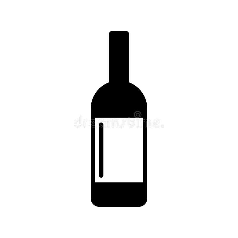 Ejemplo plano simple del vector del estilo del icono de la botella del alcohol ilustración del vector