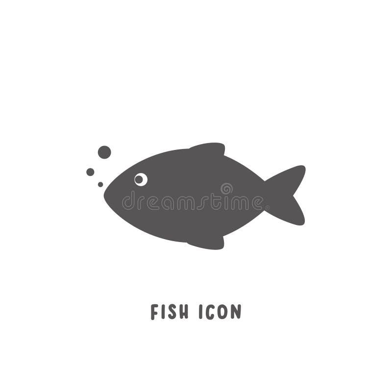 Ejemplo plano simple del vector del estilo del icono de los pescados ilustración del vector