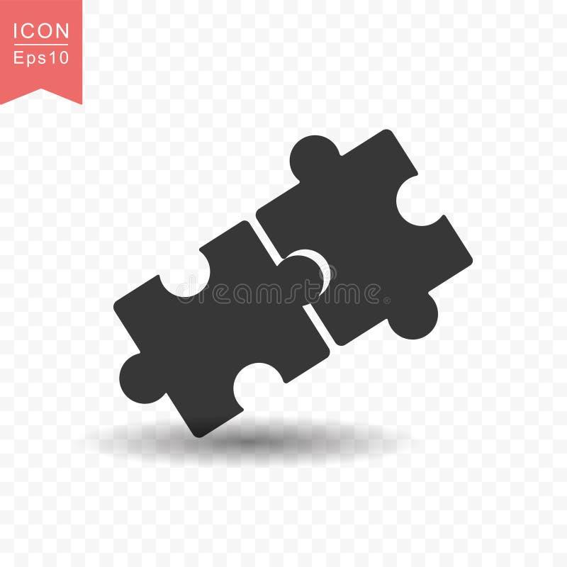 Ejemplo plano simple del vector del estilo del icono del rompecabezas stock de ilustración