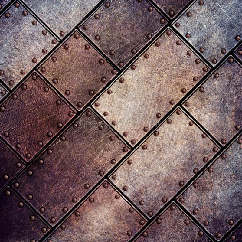 Ejemplo plateado de metal 3d del Grunge stock de ilustración