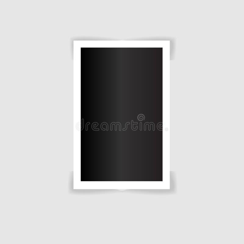Ejemplo polaroid vector_5 de la plantilla del marco del marco de la foto stock de ilustración
