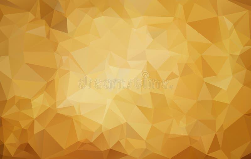 Ejemplo poligonal abstracto del marrón oscuro, que consisten en triángulos Diseño triangular para su negocio Fondo geométrico stock de ilustración