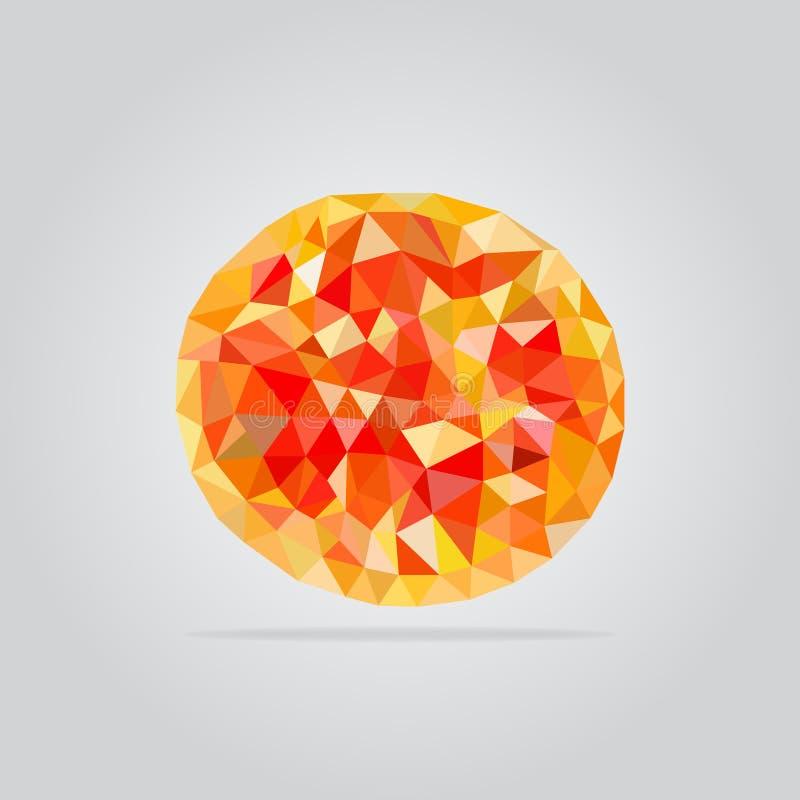 Ejemplo poligonal de la pizza imagenes de archivo