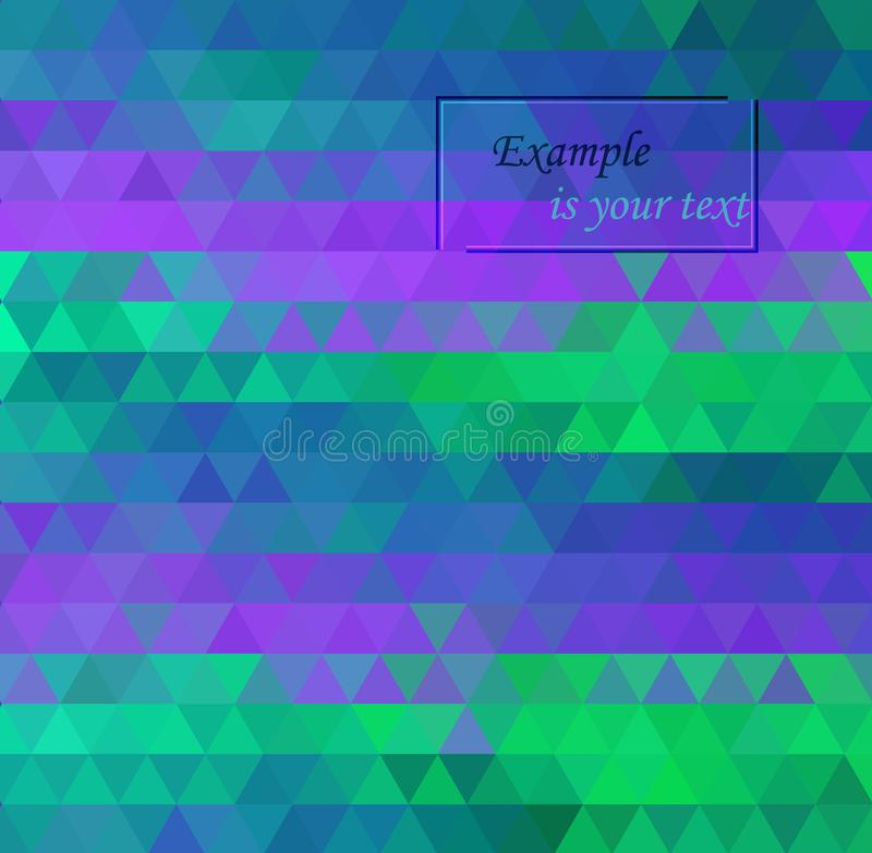 Ejemplo poligonal del vector azul claro, verde, que consisten en tri?ngulos Dise?o triangular para su negocio libre illustration