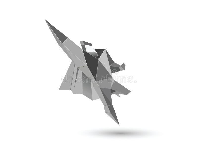Ejemplo poligonal del vector del carácter del superhéroe de los hombres de negocios libre illustration