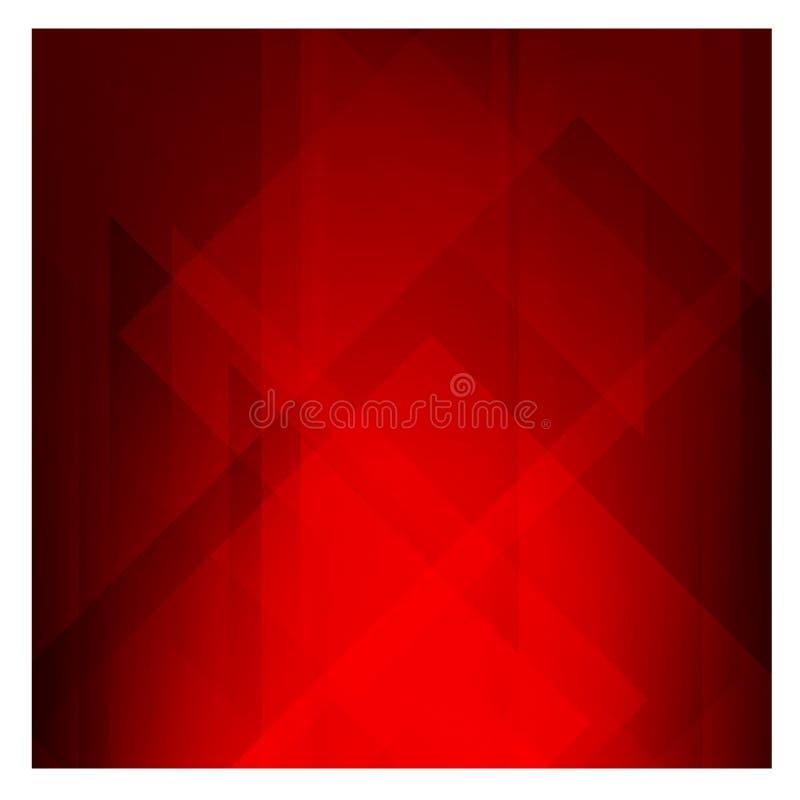Ejemplo poligonal rojo oscuro, que consisten en triángulos libre illustration
