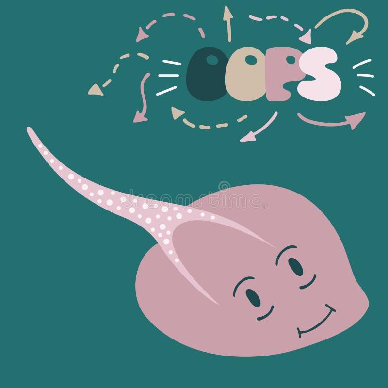 Ejemplo precioso con una pastinaca libre illustration