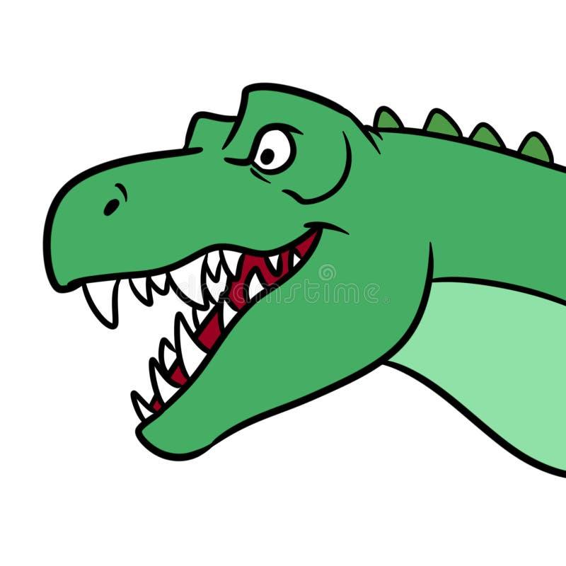 Ejemplo principal de la historieta del dinosaurio de la boca del tiranosaurio libre illustration