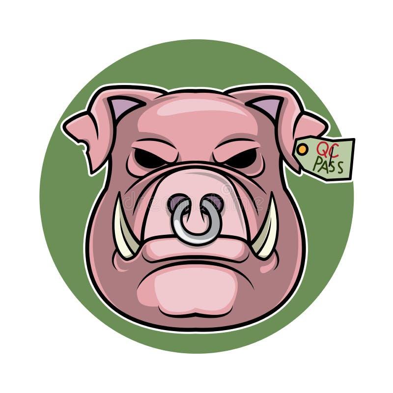 Ejemplo principal del vector del logotipo del cerdo de la historieta libre illustration