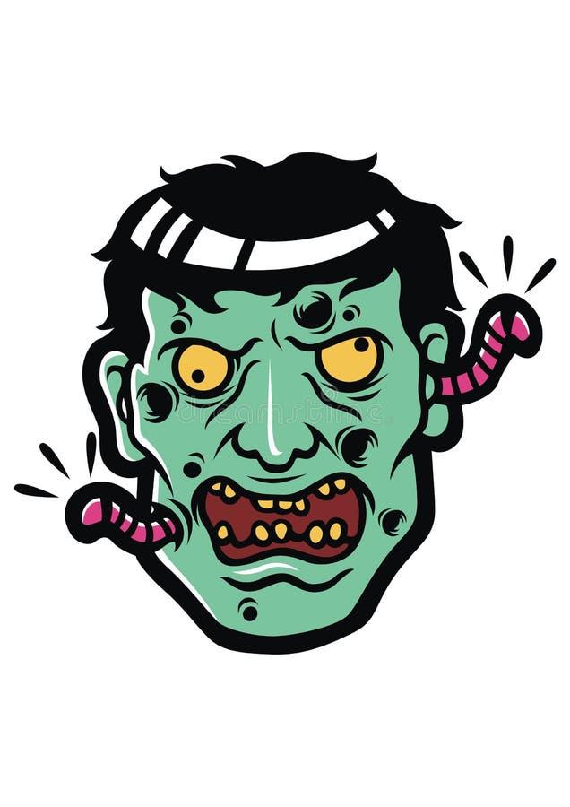 Ejemplo principal del zombi foto de archivo