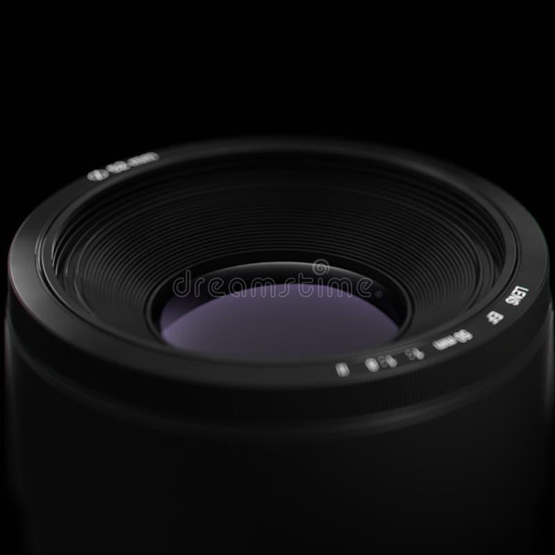Ejemplo profesional de la lente de cámara 3d fotos de archivo libres de regalías
