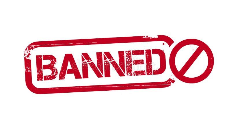 Ejemplo prohibido del sello de goma del grunge libre illustration