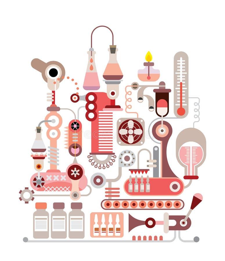 Ejemplo químico del vector del laboratorio ilustración del vector