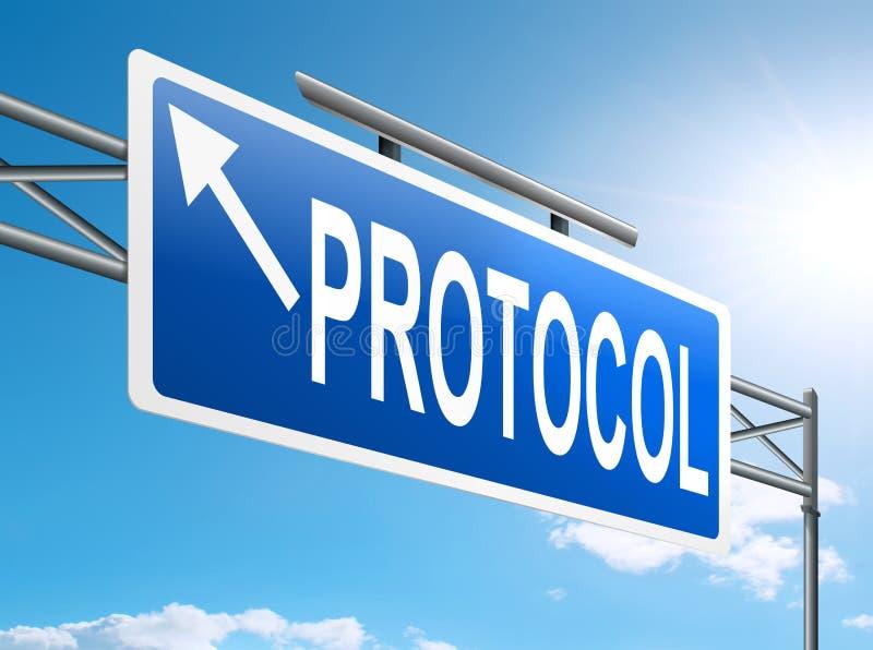 Concepto del protocolo. libre illustration