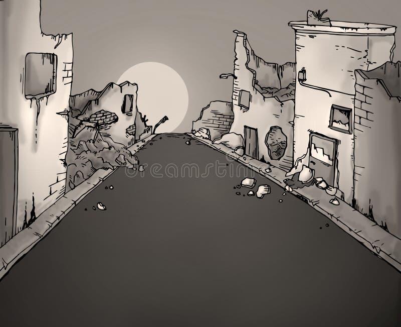 Ejemplo quebrado de la calle ilustración del vector