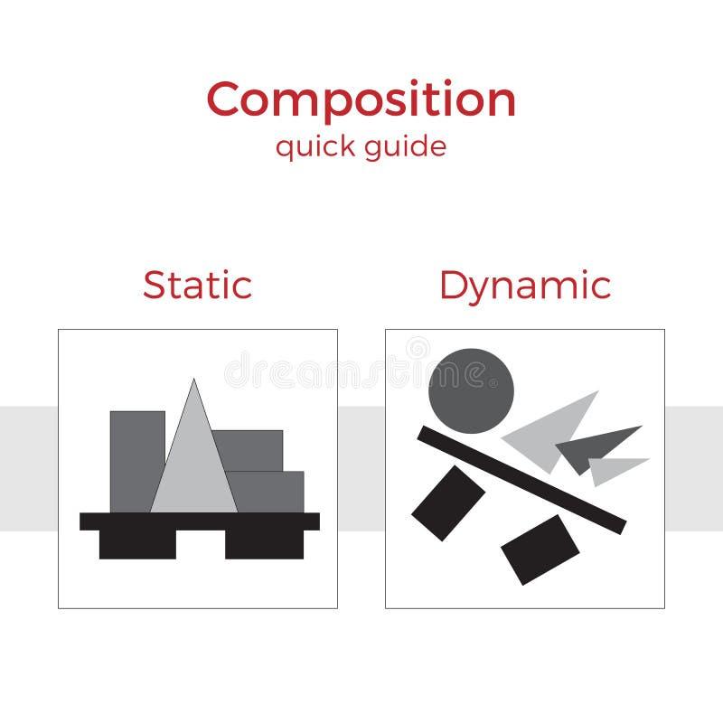 Ejemplo rápido de la guía de la composición ilustración del vector
