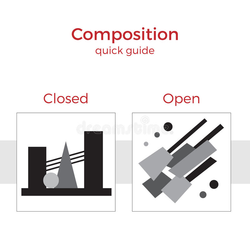 Ejemplo rápido de la guía de la composición stock de ilustración