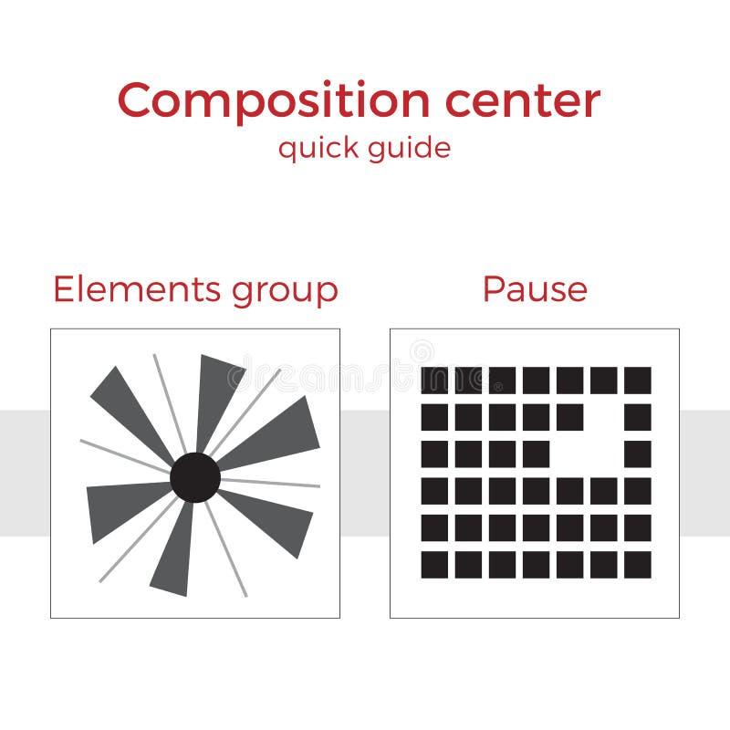 Ejemplo rápido del vector de la guía de la composición stock de ilustración