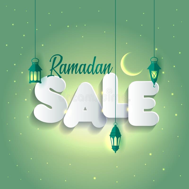 Ejemplo Ramadan Sale del vector Bandera, descuento, etiqueta, venta, tarjeta de felicitación, de la celebración de Ramadan Kareem libre illustration