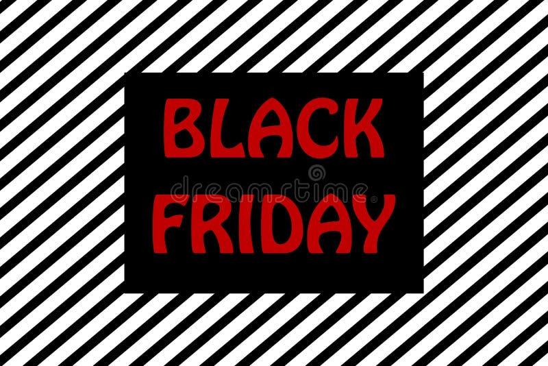 Ejemplo rayado negro del fondo de la promoción de venta de viernes libre illustration