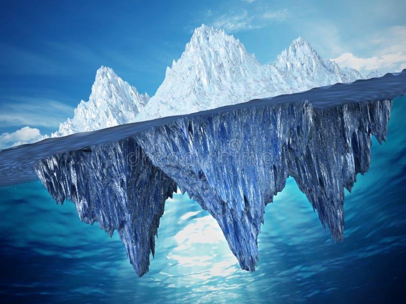 Ejemplo realista 3D de un iceberg ilustración 3D libre illustration