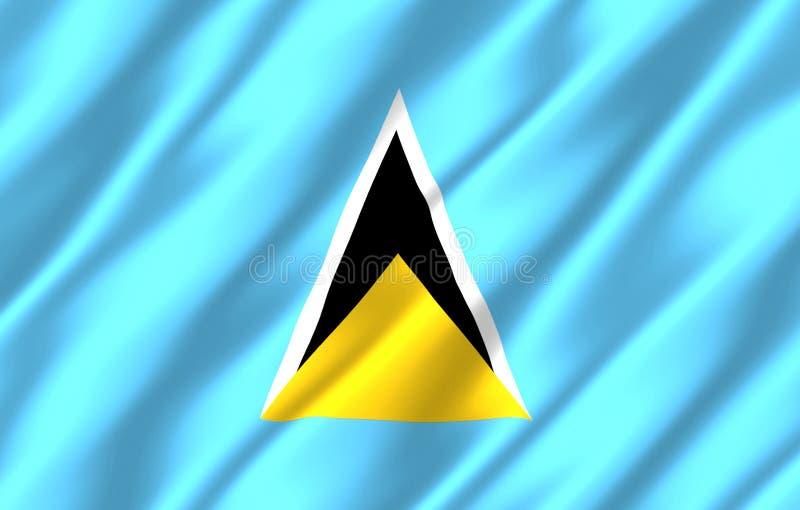 Ejemplo realista de la bandera de la Santa Lucía libre illustration