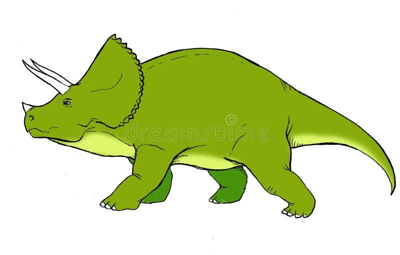 Ejemplo realista de un dinosaurio de la especie conocida como triceratops stock de ilustración