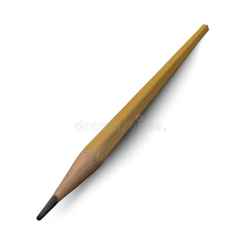 Ejemplo realista del vector del lápiz libre illustration