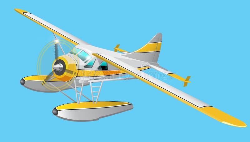 Ejemplo retro del hidroavión libre illustration