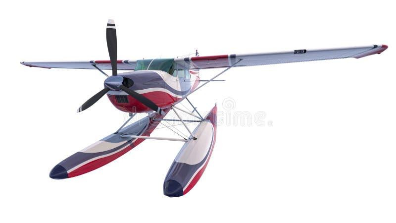 Ejemplo retro del hidroavión 3d rinden ilustración del vector