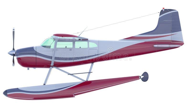 Ejemplo retro del hidroavión 3d rinden libre illustration